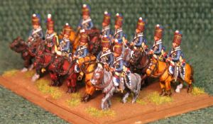 15mm, Napoleonic British 18th Hussars/Light Dragoons AB 12 figures